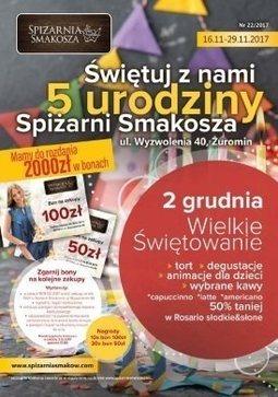 Gazetka promocyjna Spiżarnia Smakosza, ważna od 16.11.2017 do 29.11.2017.