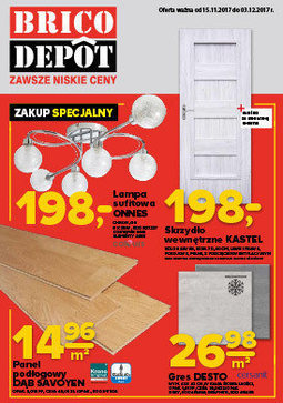 Gazetka promocyjna Brico Depot, ważna od 15.11.2017 do 03.12.2017.