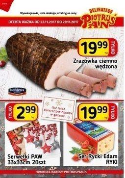 Gazetka promocyjna Piotruś Pan, ważna od 22.11.2017 do 29.11.2017.