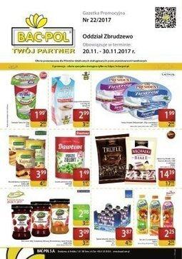 Gazetka promocyjna Bać-Pol, ważna od 20.11.2017 do 30.11.2017.
