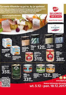 Gazetka promocyjna Selgros Cash&Carry, ważna od 05.12.2017 do 18.12.2017.
