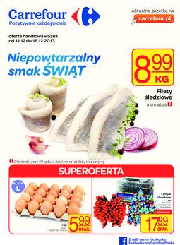 Gazetka promocyjna Carrefour, ważna od 11.12.2013 do 16.12.2013.