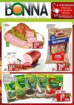 Gazetka promocyjna Bonna, ważna od 01.12.2017 do 31.12.2017.