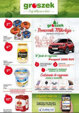 Gazetka promocyjna Groszek, ważna od 07.12.2017 do 24.12.2017.