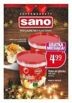 Gazetka promocyjna Sano, ważna od 08.12.2017 do 04.01.2018.