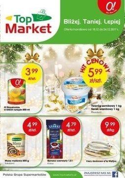 Gazetka promocyjna Top Market, ważna od 18.12.2017 do 24.12.2017.