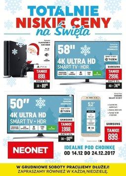 Gazetka promocyjna Neonet, ważna od 14.12.2017 do 24.12.2017.