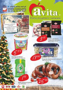 Gazetka promocyjna Avita, ważna od 15.12.2017 do 31.12.2017.