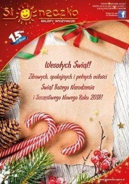 Gazetka promocyjna Słoneczko, ważna od 16.12.2017 do 31.12.2017.