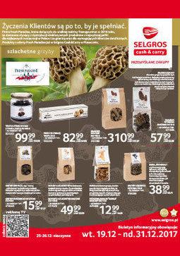 Gazetka promocyjna Selgros Cash&Carry, ważna od 19.12.2017 do 31.12.2017.