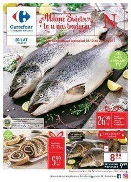 Gazetka promocyjna Carrefour, ważna od 18.12.2017 do 24.12.2017.