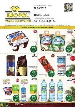 Gazetka promocyjna Bać-Pol, ważna od 18.12.2017 do 31.12.2017.