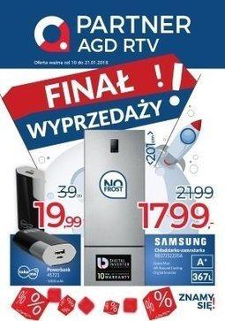 Gazetka promocyjna Partner AGD RTV, ważna od 10.01.2018 do 21.01.2018.