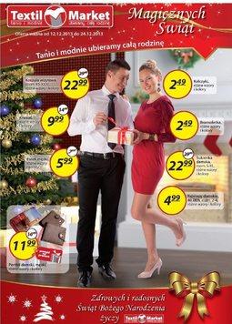 Gazetka promocyjna Textil Market, ważna od 12.12.2013 do 24.12.2013.