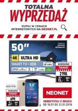 Gazetka promocyjna Neonet, ważna od 18.01.2018 do 31.01.2018.