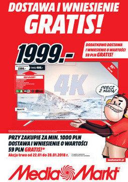 Gazetka promocyjna Media Markt, ważna od 22.01.2018 do 28.01.2018.