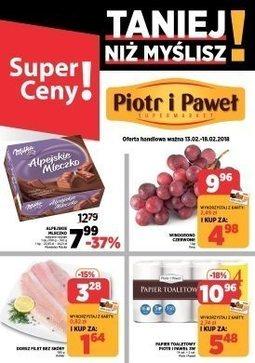 Gazetka promocyjna Piotr i Paweł, ważna od 13.02.2018 do 18.02.2018.