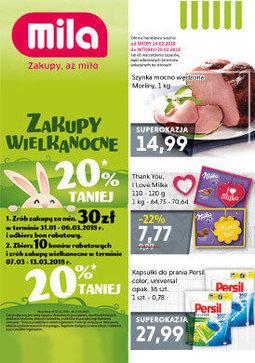 Gazetka promocyjna Mila, ważna od 14.02.2018 do 20.02.2018.