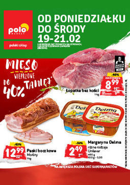 Gazetka promocyjna POLOmarket, ważna od 19.02.2018 do 21.02.2018.