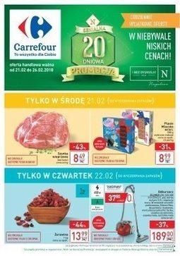 Gazetka promocyjna Carrefour, ważna od 21.02.2018 do 26.02.2018.