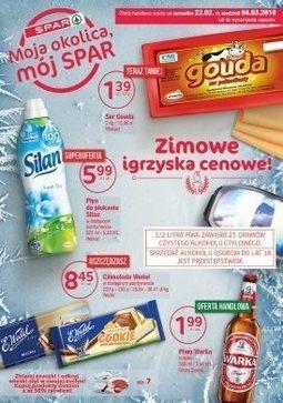 Gazetka promocyjna Spar, ważna od 22.02.2018 do 04.03.2018.