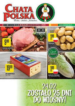 Gazetka promocyjna Chata Polska, ważna od 22.02.2018 do 28.02.2018.