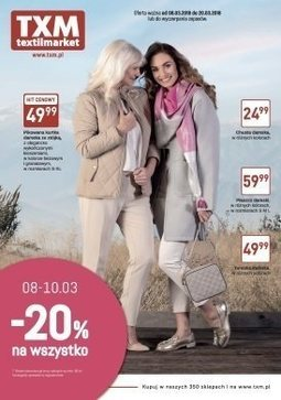 Gazetka promocyjna Textil Market, ważna od 08.03.2018 do 20.03.2018.