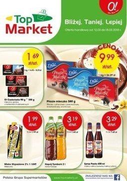 Gazetka promocyjna Top Market, ważna od 12.03.2018 do 18.03.2018.