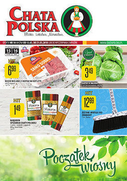 Gazetka promocyjna Chata Polska, ważna od 15.03.2018 do 21.03.2018.