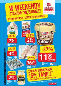 Gazetka promocyjna Selgros Cash&Carry, ważna od 23.03.2018 do 24.03.2018.