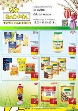 Gazetka promocyjna Bać-Pol S.A., ważna od 19.03.2018 do 31.03.2018.