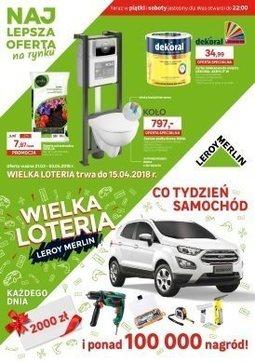 Gazetka promocyjna Leroy Merlin, ważna od 21.03.2018 do 03.04.2018.