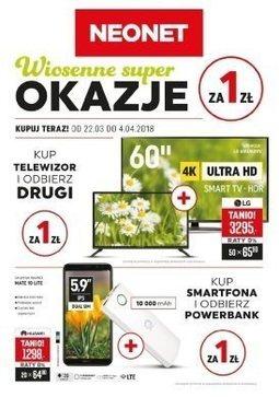 Gazetka promocyjna Neonet, ważna od 22.03.2018 do 04.04.2018.