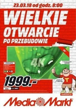 Gazetka promocyjna Media Markt, ważna od 23.03.2018 do 26.03.2018.