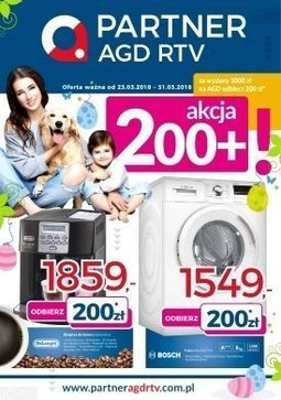Gazetka promocyjna Partner AGD RTV , ważna od 23.03.2018 do 31.03.2018.