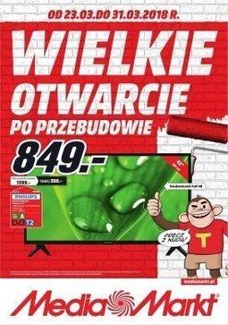 Gazetka promocyjna Media Markt, ważna od 23.03.2018 do 31.03.2018.