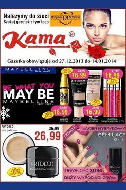Gazetka promocyjna Kama Beauty, ważna od 27.12.2013 do 14.01.2014.