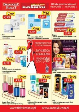 Gazetka promocyjna Drogeria Kosmyk, ważna od 08.07.2013 do 31.07.2013.