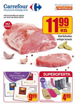 Gazetka promocyjna Carrefour, ważna od 15.01.2014 do 20.01.2014.