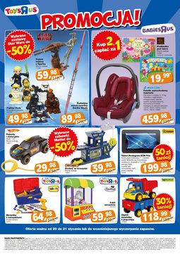 """Gazetka promocyjna Toys""""R""""Us, ważna od 20.01.2014 do 31.01.2014."""