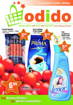 Gazetka promocyjna ODIDO, ważna od 24.01.2014 do 05.02.2014.