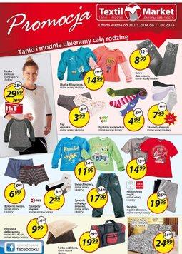 Gazetka promocyjna Textil Market, ważna od 30.01.2014 do 11.02.2014.