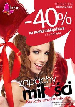 Gazetka promocyjna Hebe, ważna od 03.02.2014 do 16.02.2014.