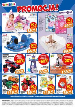 """Gazetka promocyjna Toys""""R""""Us, ważna od 03.02.2014 do 02.03.2014."""