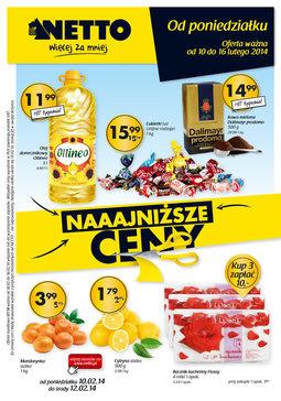 Gazetka promocyjna Netto, ważna od 10.02.2014 do 16.02.2014.