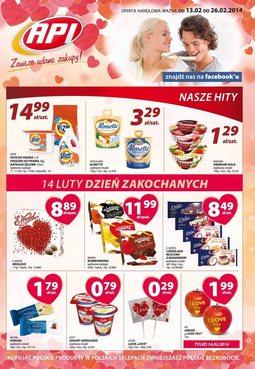 Gazetka promocyjna Api Market, ważna od 13.02.2014 do 26.02.2014.
