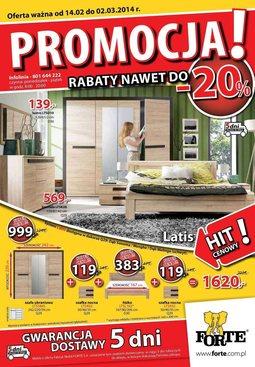 Gazetka promocyjna Forte, ważna od 14.02.2014 do 02.03.2014.