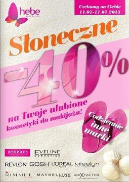 Gazetka promocyjna Hebe, ważna od 11.07.2013 do 17.07.2013.