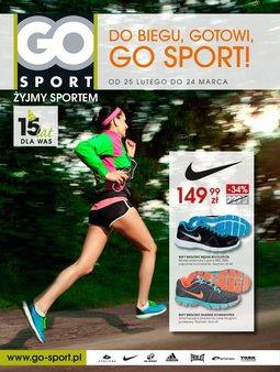 Gazetka promocyjna GO Sport, ważna od 25.02.2014 do 24.03.2014.