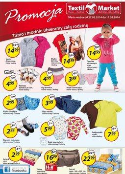 Gazetka promocyjna Textil Market, ważna od 27.02.2014 do 11.03.2014.